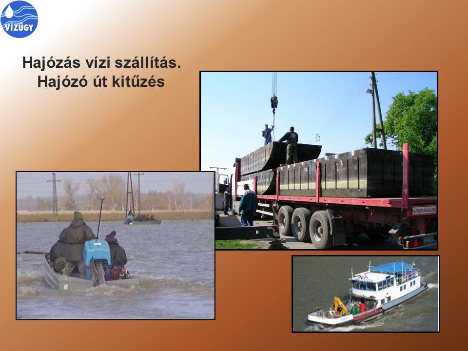 Hajózás, jégrombolás Nehezen fenntartható, de szükséges