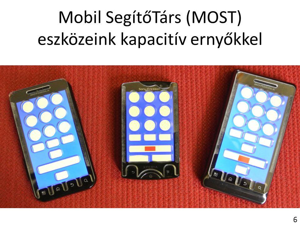 Mobil SegítőTárs (MOST) eszközeink kapacitív ernyőkkel 6