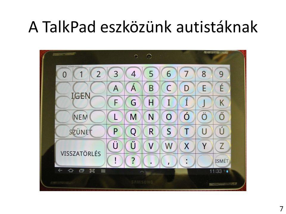 A TalkPad eszközünk autistáknak 7