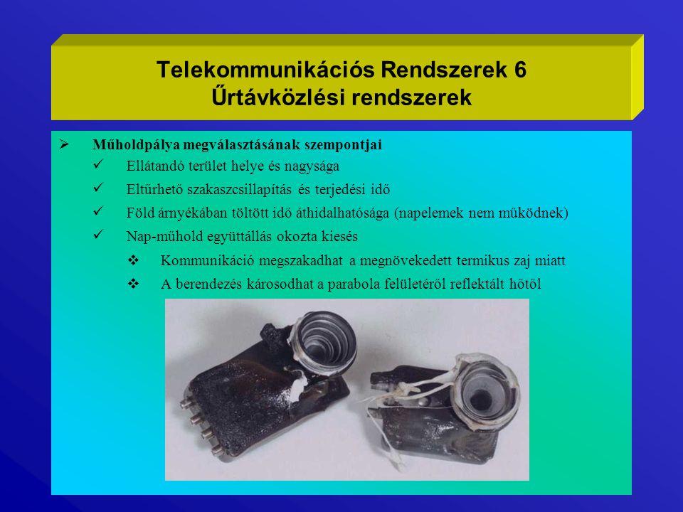  ÁLTALÁNOS ÁTTEKINTÉS Telekommunikációs Rendszerek 17 Mobil Kommunikáció Land Mobile Network (LMN) Jellemzők DLMNPLMN NMTGSM Frekvencia sáv 27MHz;150MHz; 450MHz 900MHz;1800MHz Átvitel jellege Analóg Digitális/kódolt Simplex/DuplexFull duplex Mod.