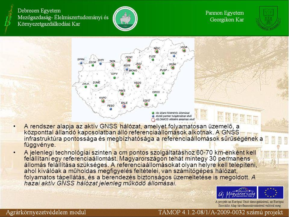 A rendszer alapja az aktív GNSS hálózat, amelyet folyamatosan üzemelő, a központtal állandó kapcsolatban álló referenciaállomások alkotnak.