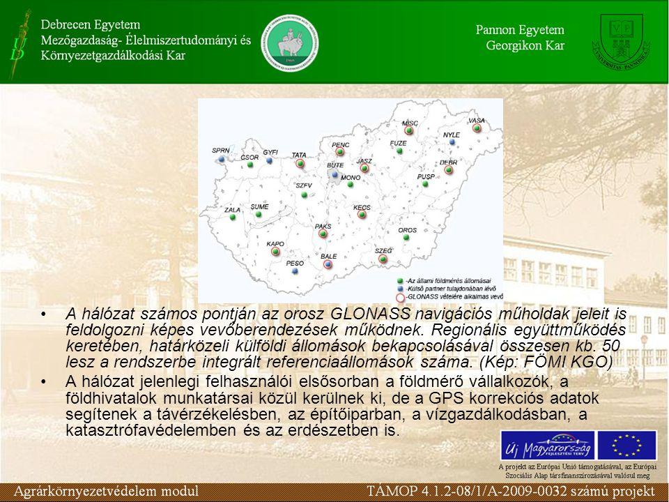 A hálózat számos pontján az orosz GLONASS navigációs műholdak jeleit is feldolgozni képes vevőberendezések működnek.