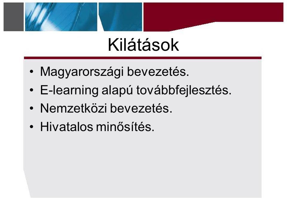 Kilátások Magyarországi bevezetés. E-learning alapú továbbfejlesztés.