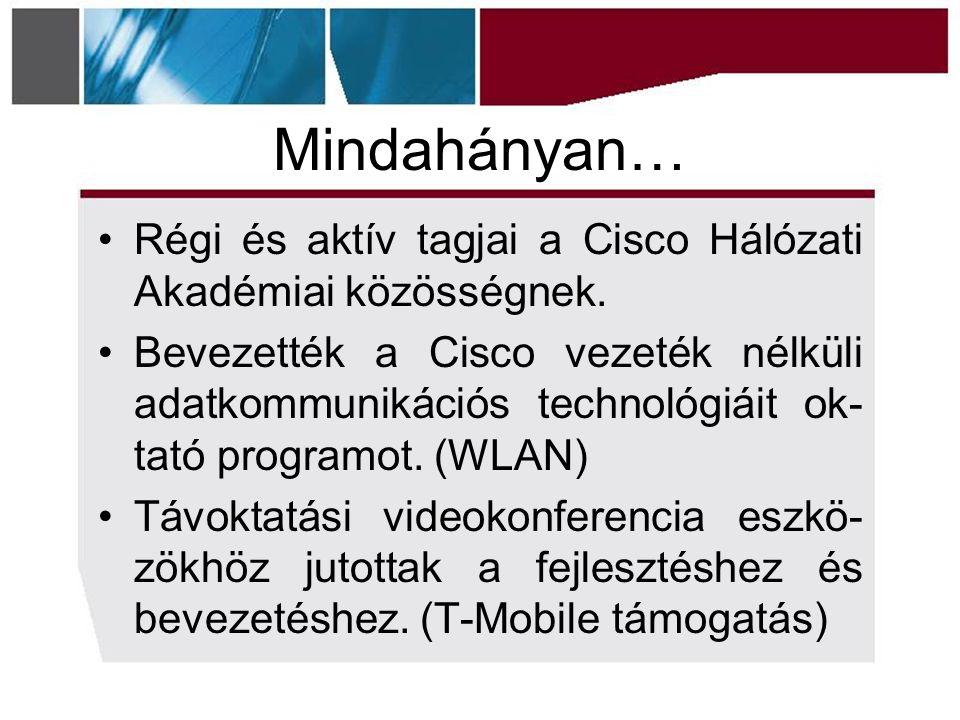 Mindahányan… Régi és aktív tagjai a Cisco Hálózati Akadémiai közösségnek.