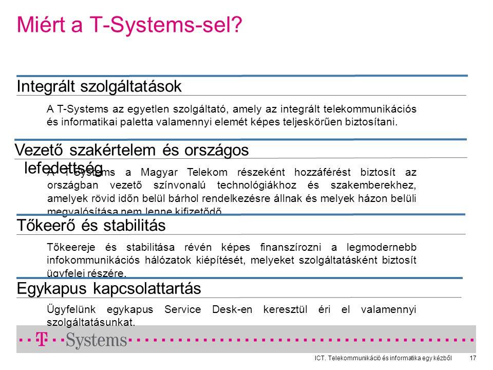 ICT.Telekommunikáció és informatika egy kézből17 Miért a T-Systems-sel.