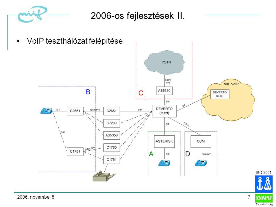 ISO 9001 Tanúsított cég 2006.
