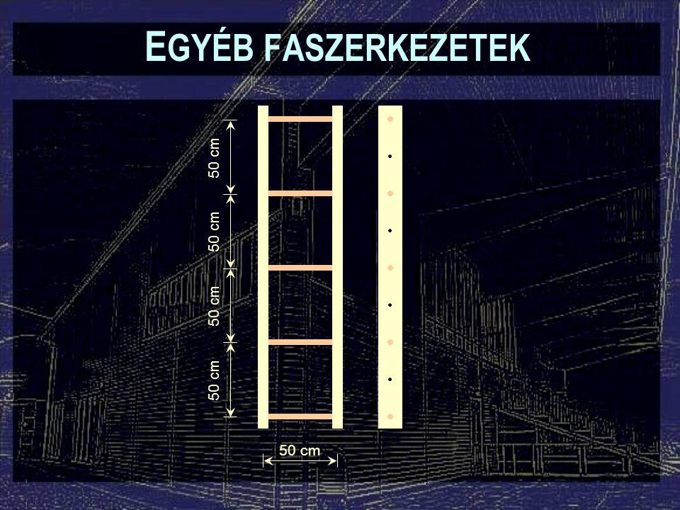 50 cm E GYÉB FASZERKEZETEK