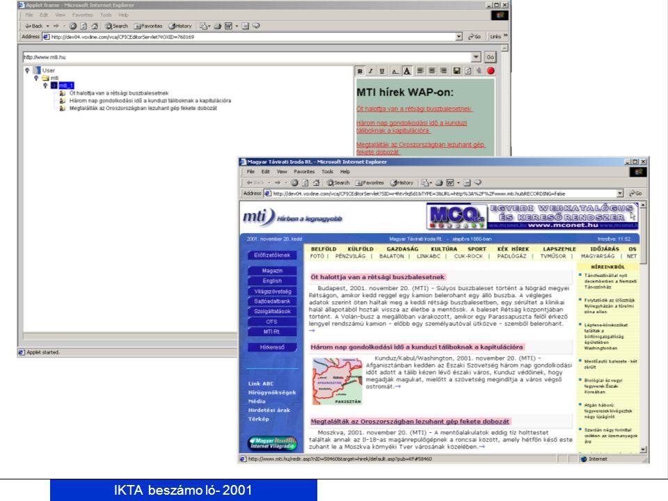 IKTA beszámo ló- 2001 MTI 2. cim