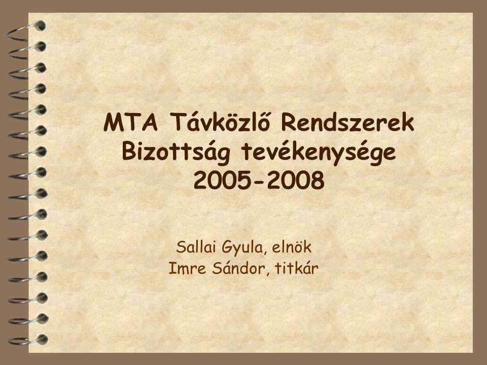 Statisztikák  Ülések száma: –Összesen: 22 –Átlagosan: 1,5 havonta találkoztunk (nyarakat leszámítva) –2005 (2), 2006 (7), 2007 (7), 2008 (6)  Meglátogatott intézmények száma.
