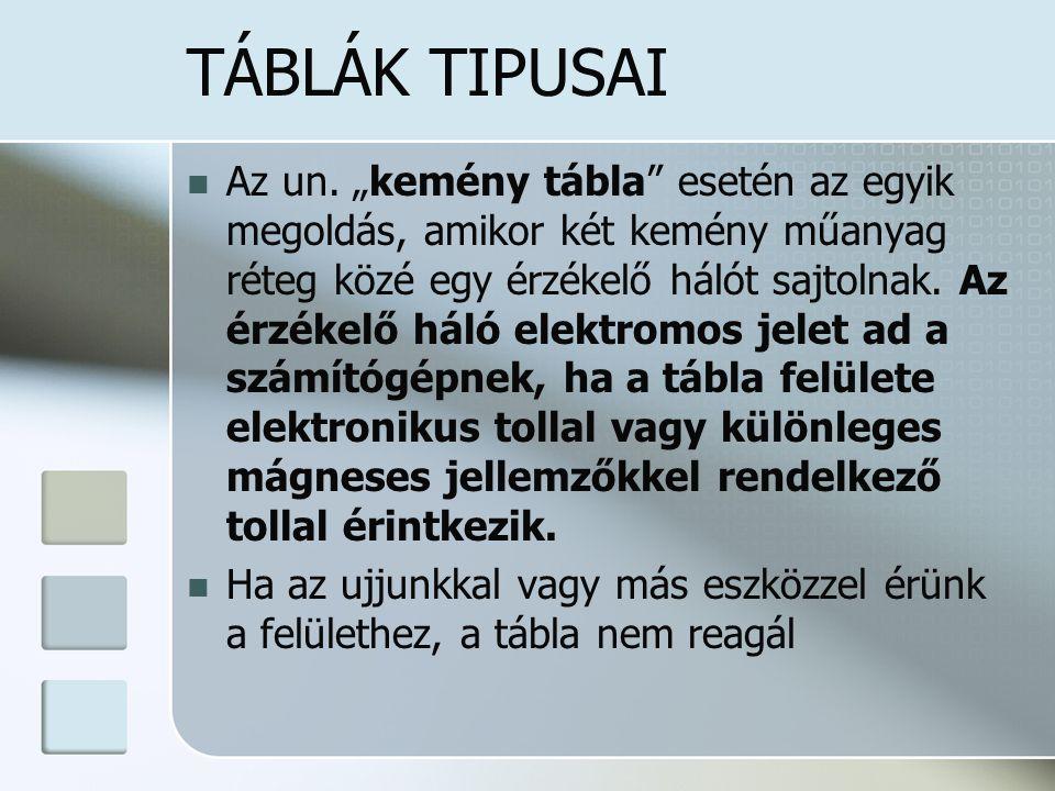 KEMÉNY TÁBLA