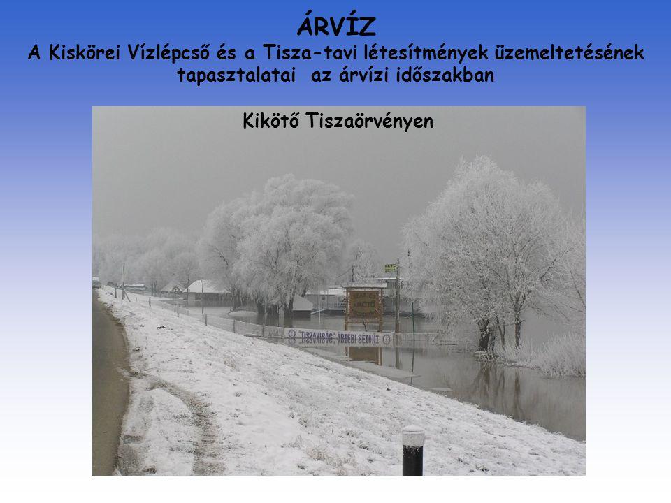 ÁRVÍZ A Kiskörei Vízlépcső és a Tisza-tavi létesítmények üzemeltetésének tapasztalatai az árvízi időszakban Kikötő Tiszaörvényen
