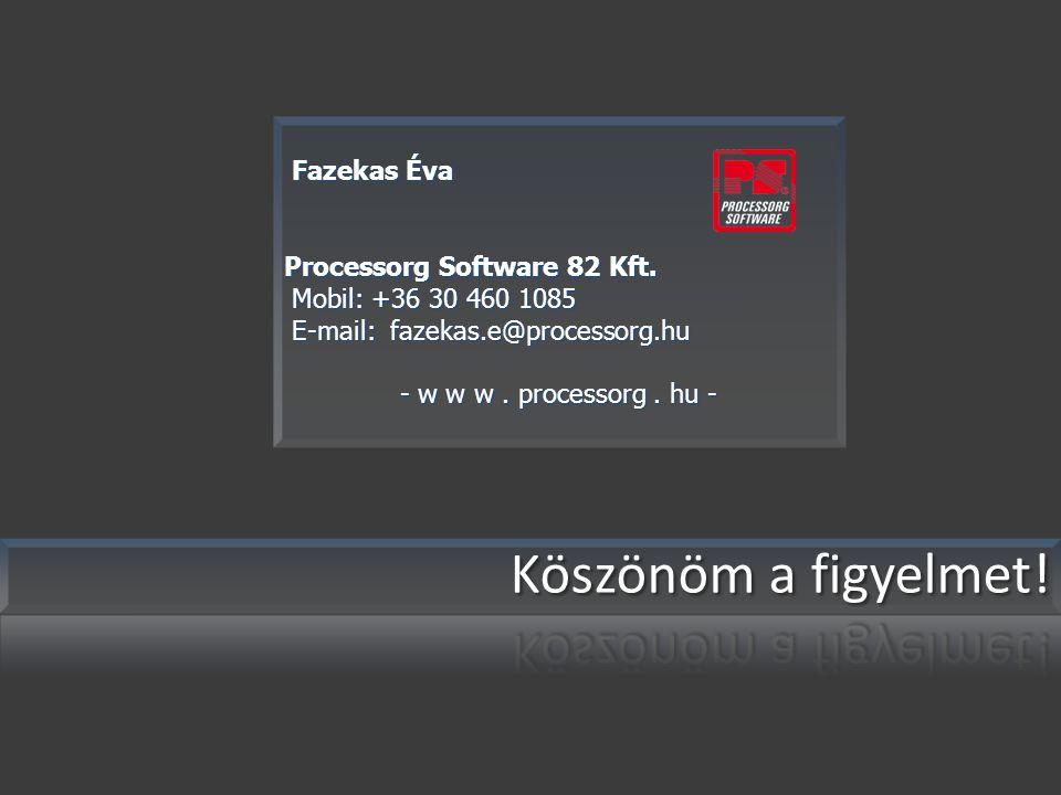 Fazekas Éva Fazekas Éva Processorg Software 82 Kft.