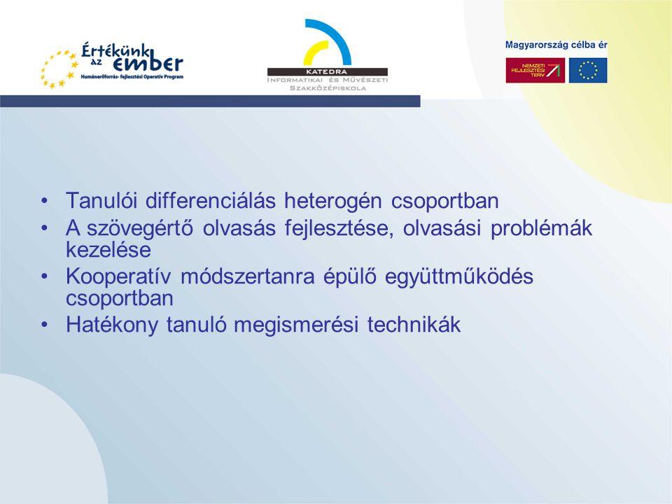 Kompetencia alapú programcsomagok bevezetése