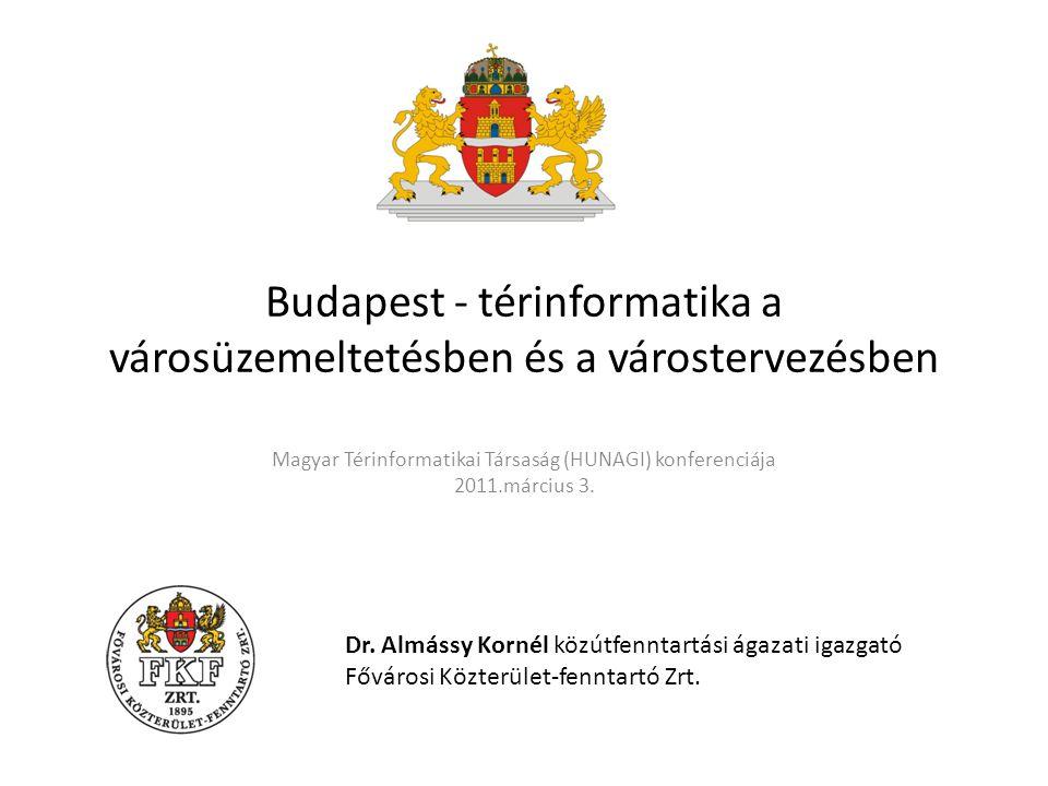 Budapest - térinformatika a városüzemeltetésben és a várostervezésben Magyar Térinformatikai Társaság (HUNAGI) konferenciája 2011.március 3.