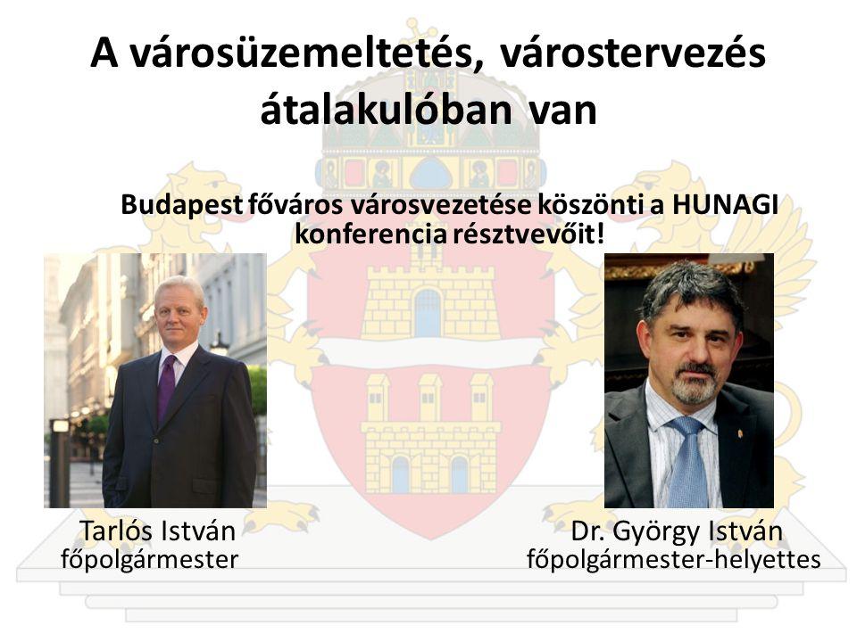A városüzemeltetés, várostervezés átalakulóban van Budapest főváros városvezetése köszönti a HUNAGI konferencia résztvevőit.