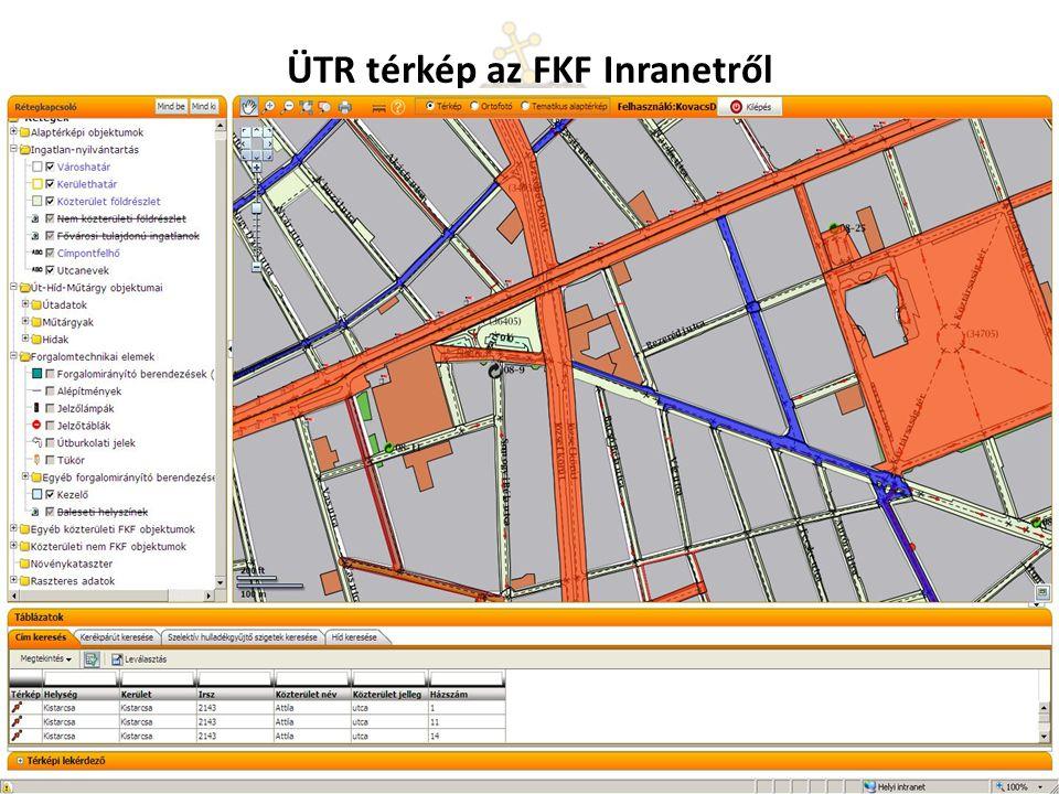 ÜTR térkép az FKF Inranetről