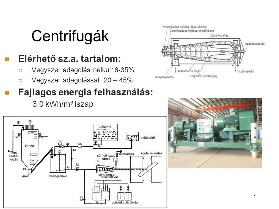 Centrifugák Elérhető sz.a.