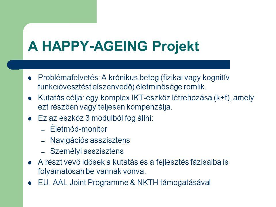 A HAPPY-AGEING Projekt Problémafelvetés: A krónikus beteg (fizikai vagy kognitív funkcióvesztést elszenvedő) életminősége romlik.