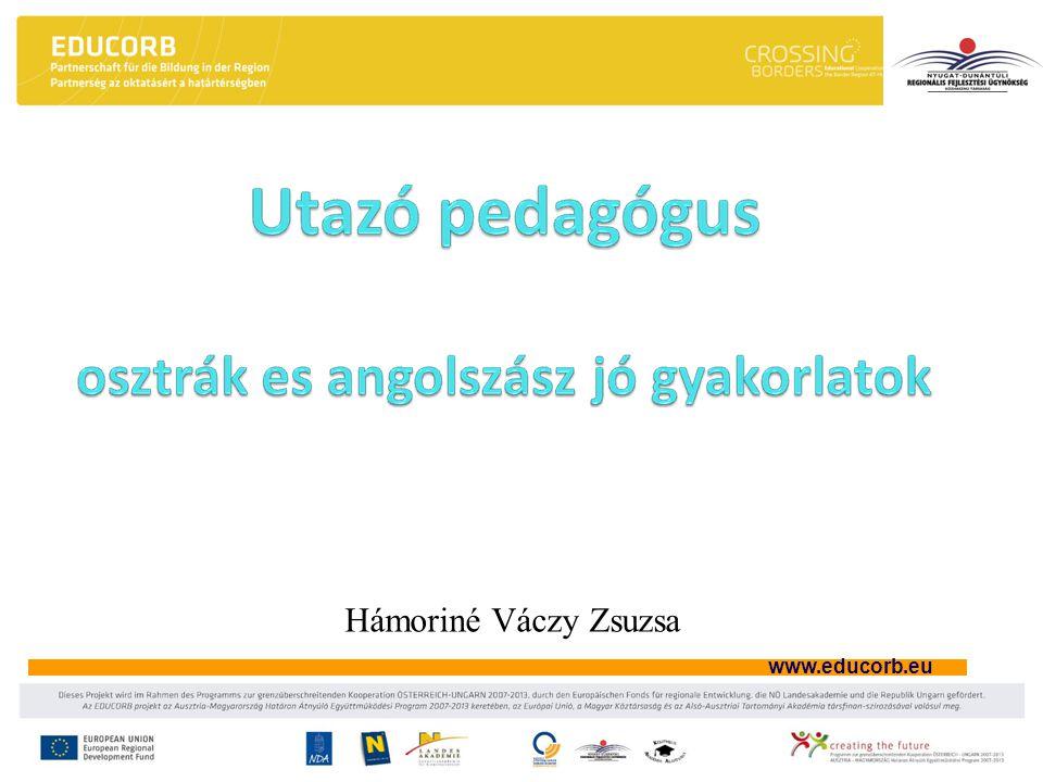 www.educorb.eu Hámoriné Váczy Zsuzsa