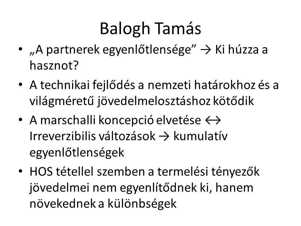 """Balogh Tamás """"A partnerek egyenlőtlensége → Ki húzza a hasznot."""