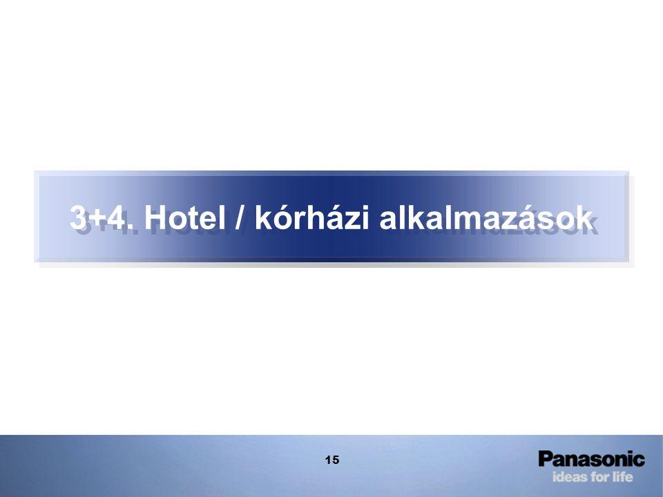 15 3+4. Hotel / kórházi alkalmazások