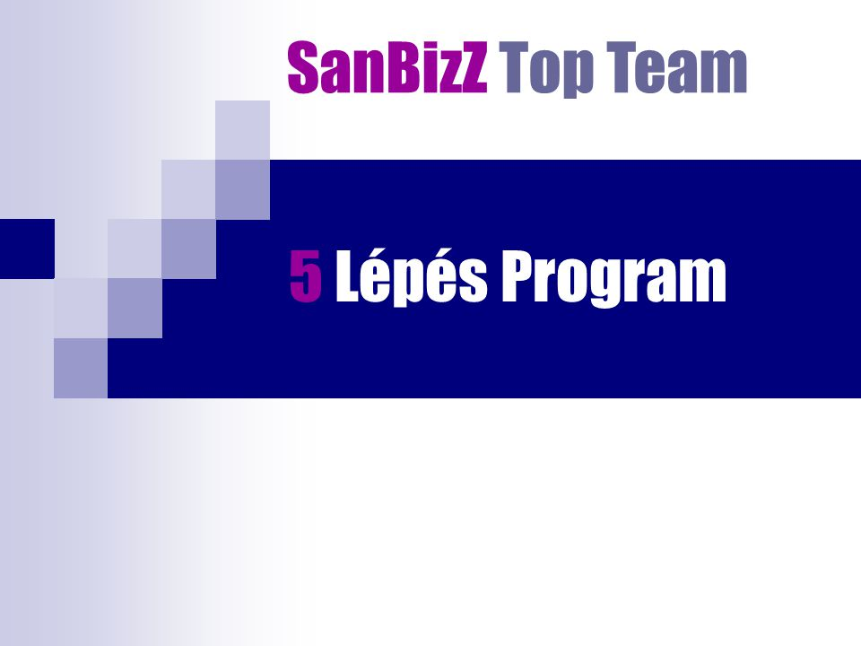 5 Lépés Program SanBizZ Top Team