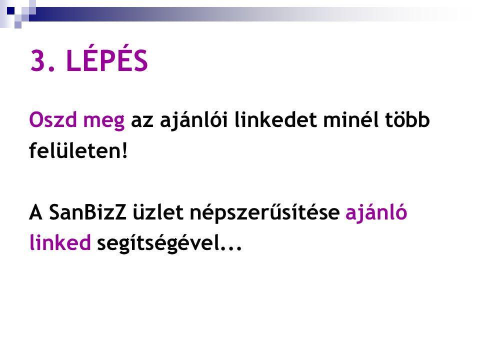 3. LÉPÉS Oszd meg az ajánlói linkedet minél több felületen.