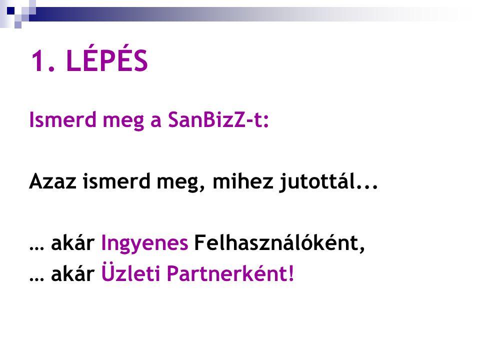 1. LÉPÉS / 1… Ismerd meg a SanBizZ külső weboldal minden menüpontját! Figyelmesen olvasd át mindet!
