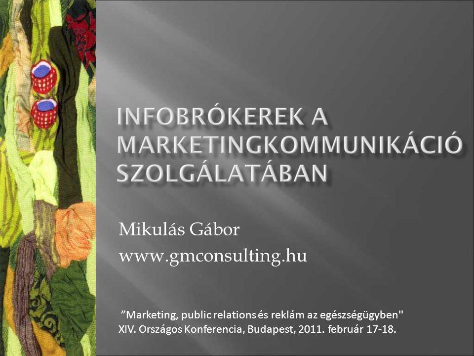 """Mikulás Gábor www.gmconsulting.hu """"Marketing, public relations és reklám az egészségügyben'' XIV. Országos Konferencia, Budapest, 2011. február 17-18."""