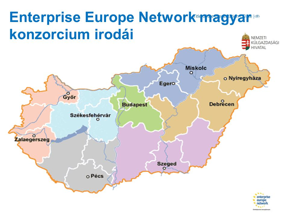 Title of the presentation | Date |‹#› Enterprise Europe Network magyar konzorcium irodái