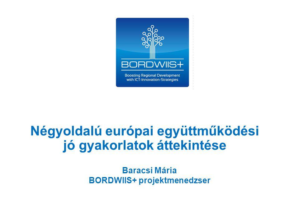 Baracsi Mária BORDWIIS+ projektmenedzser Négyoldalú európai együttműködési jó gyakorlatok áttekintése