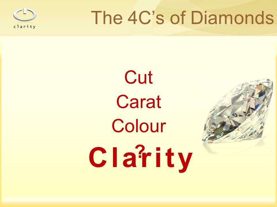 Clarity The 4C's of Diamonds Cut Carat Colour ?
