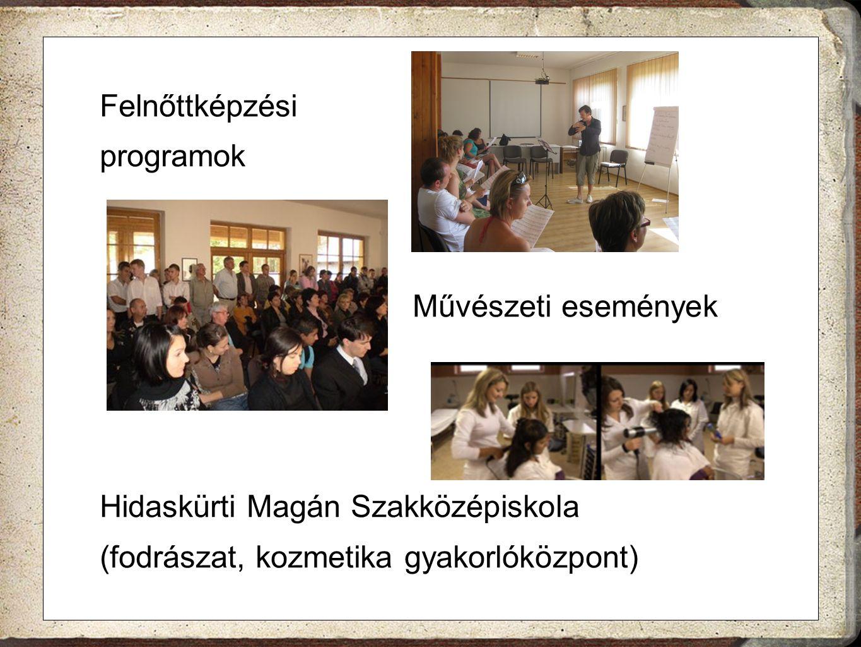 Felnőttképzési programok Művészeti események Hidaskürti Magán Szakközépiskola (fodrászat, kozmetika gyakorlóközpont)