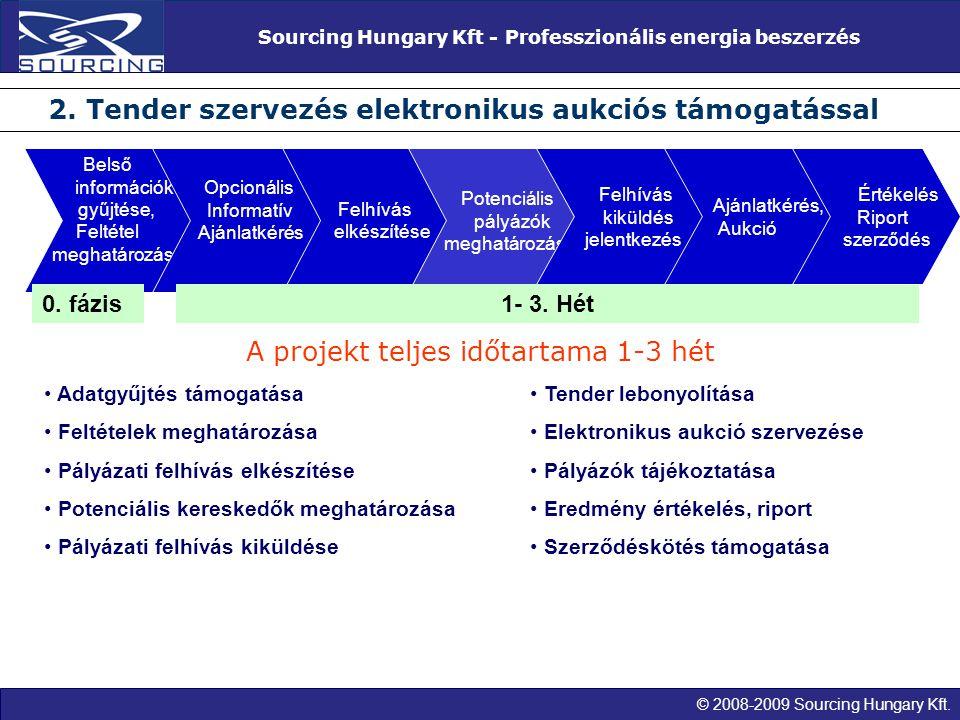 © 2008-2009 Sourcing Hungary Kft. Sourcing Hungary Kft - Professzionális energia beszerzés 2. Tender szervezés elektronikus aukciós támogatással Belső