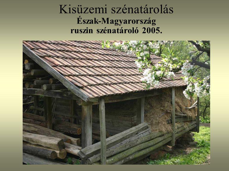 Kisüzemi szénatárolás Észak-Magyarország ruszin szénatároló 2005.