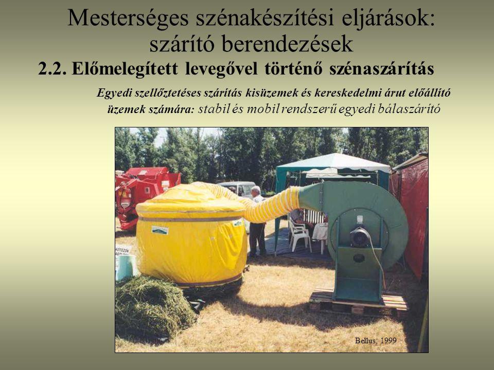 Mesterséges szénakészítési eljárások: szárító berendezések Egyedi szellőztetéses szárítás kisüzemek és kereskedelmi árut előállító üzemek számára : st