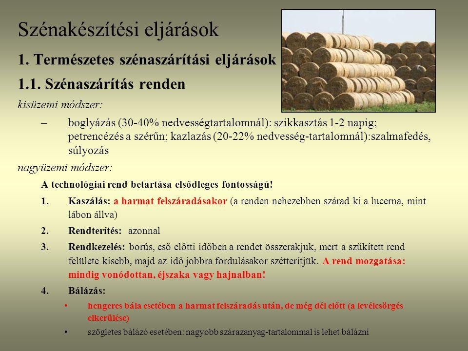 Természetes szénakészítési eljárások Állványos szénaszárítás Szlovénia, 2005.