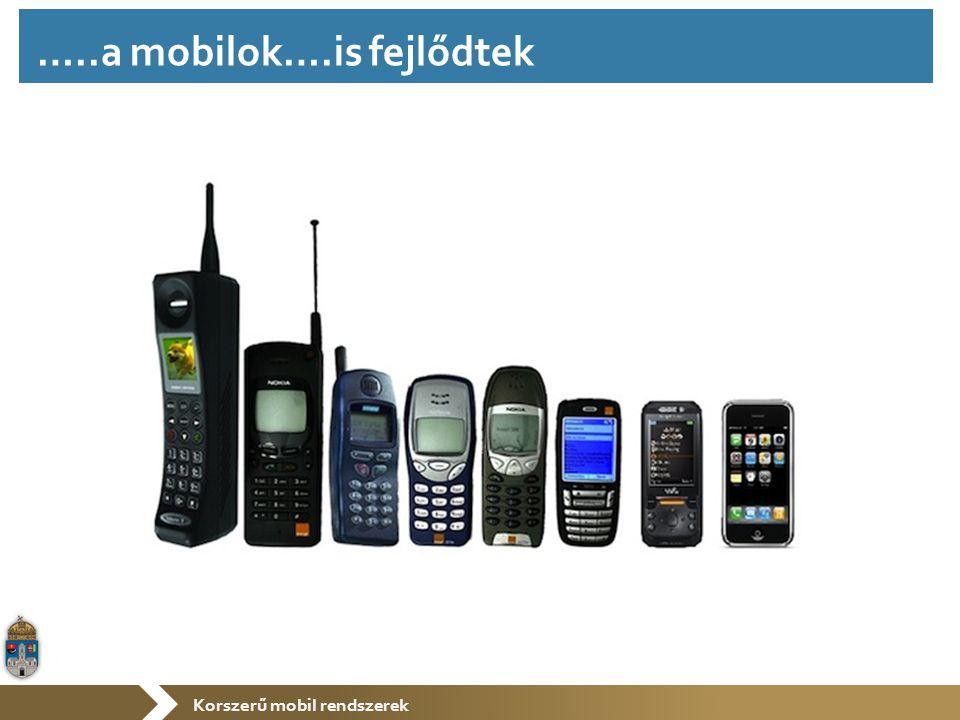 Korszerű mobil rendszerek …..a mobilok….is fejlődtek