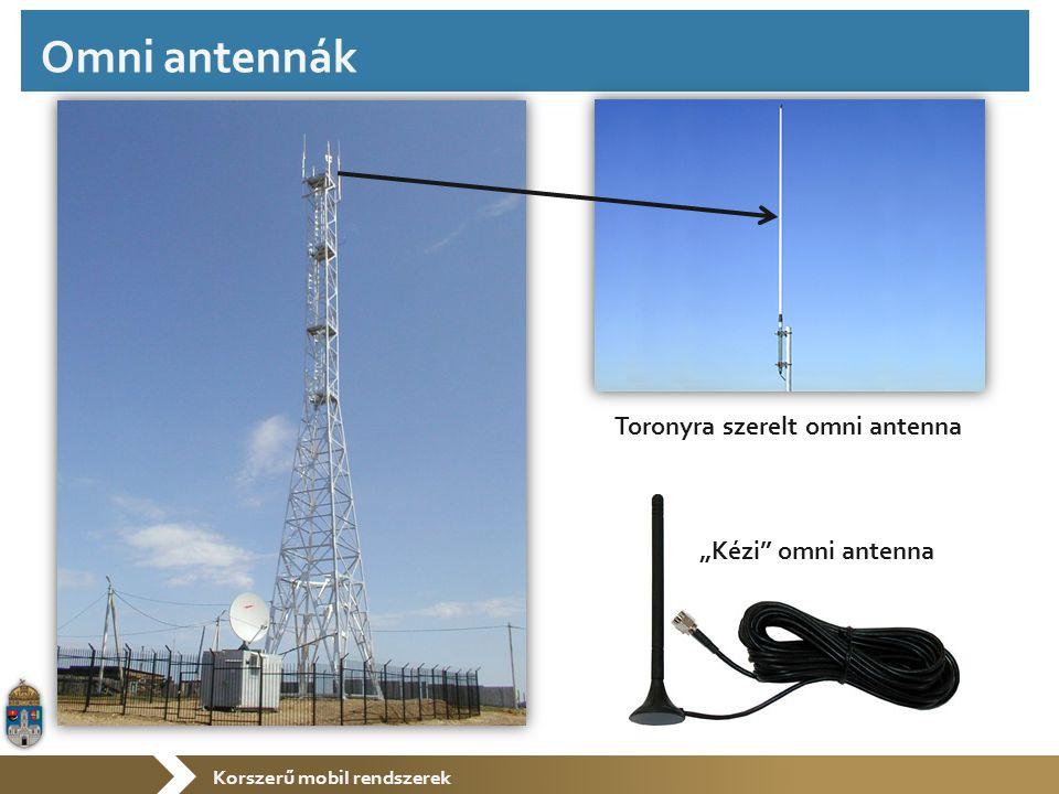 """Korszerű mobil rendszerek Toronyra szerelt omni antenna """"Kézi"""" omni antenna Omni antennák"""