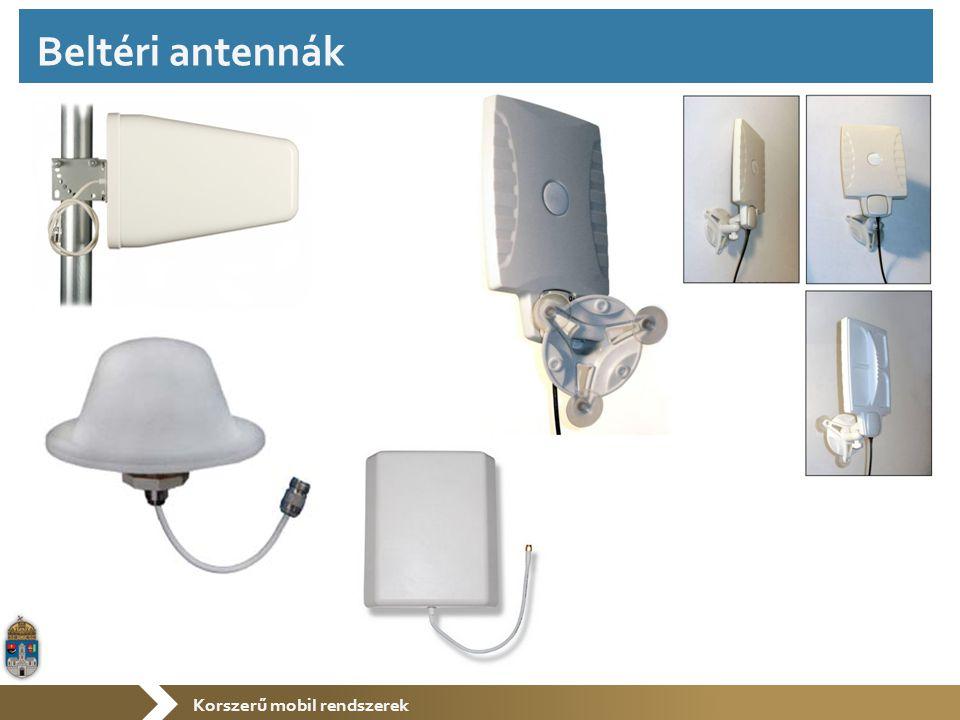Korszerű mobil rendszerek Beltéri antennák