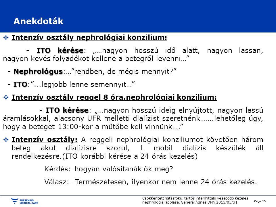 """Anekdoták  Intenzív osztály nephrológiai konzilium: ITO kérése - ITO kérése: """"…nagyon hosszú idő alatt, nagyon lassan, nagyon kevés folyadékot kellen"""