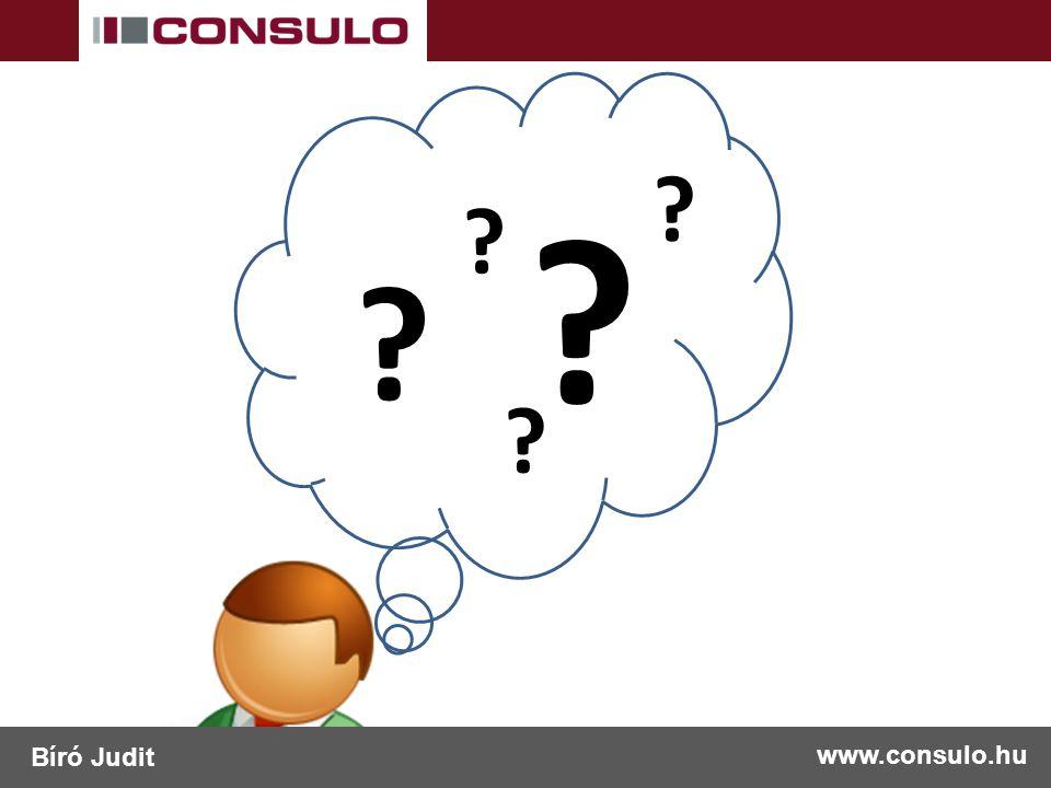 www.consulo.hu Bíró Judit