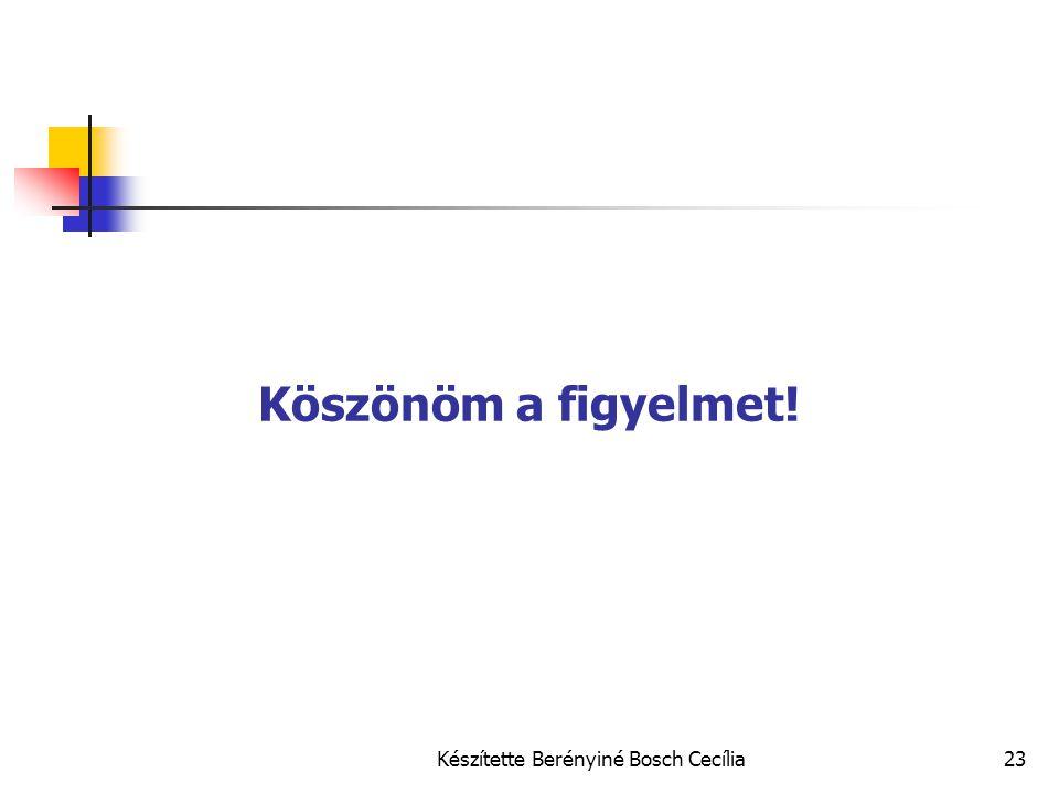 Készítette Berényiné Bosch Cecília23 Köszönöm a figyelmet!