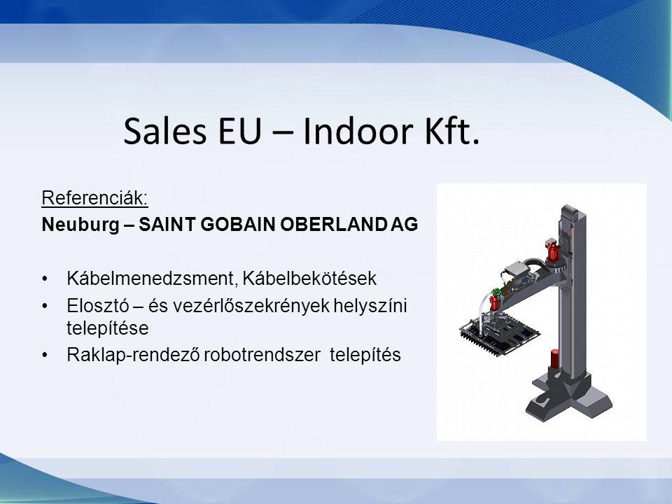 Sales EU – Indoor Kft. Referenciák: Neuburg – SAINT GOBAIN OBERLAND AG Kábelmenedzsment, Kábelbekötések Elosztó – és vezérlőszekrények helyszíni telep