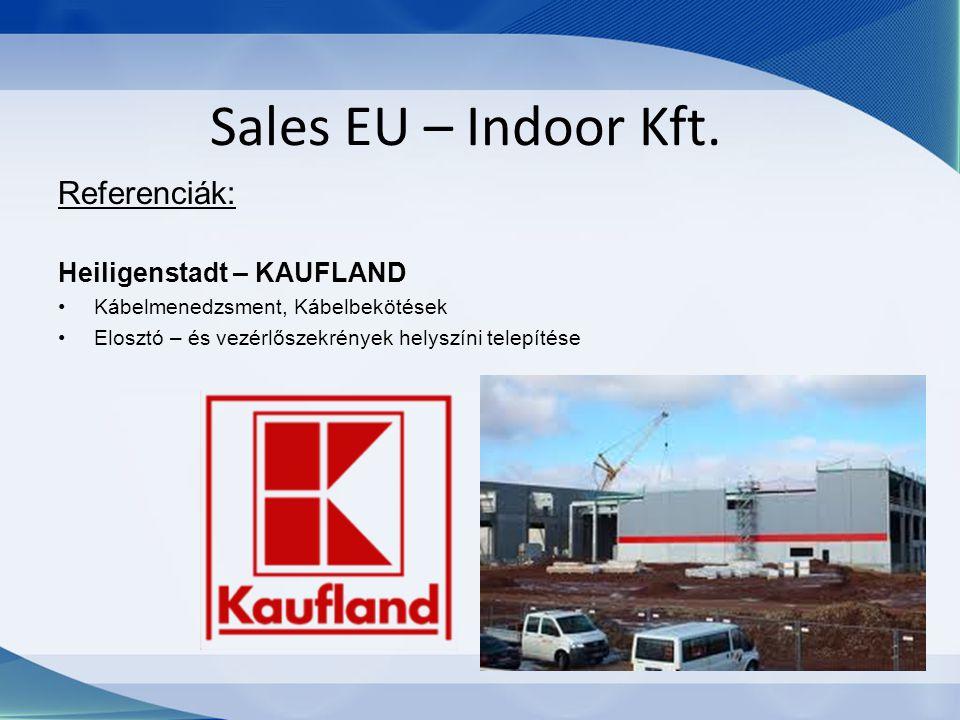 Sales EU – Indoor Kft. Referenciák: Heiligenstadt – KAUFLAND Kábelmenedzsment, Kábelbekötések Elosztó – és vezérlőszekrények helyszíni telepítése
