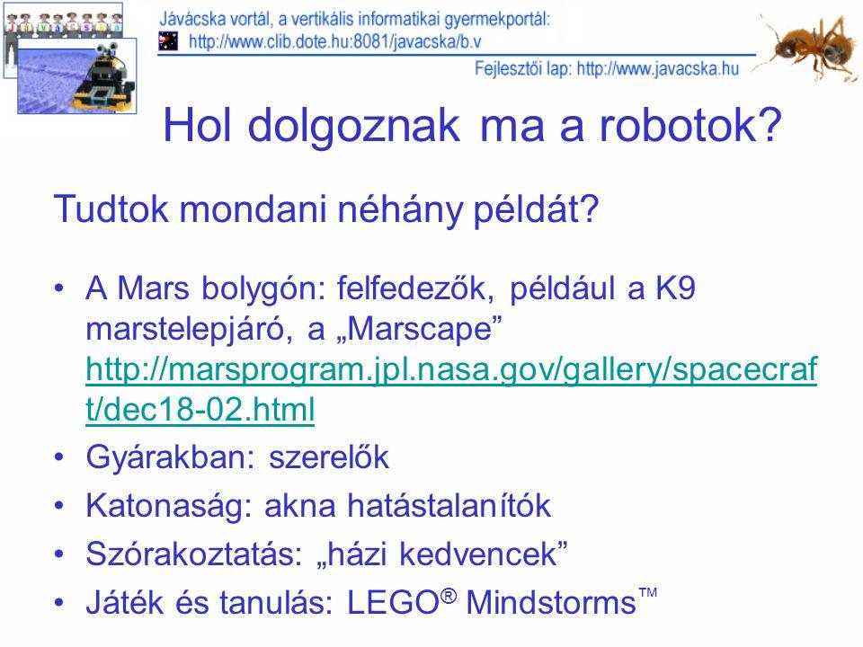 Hol dolgoznak ma a robotok.