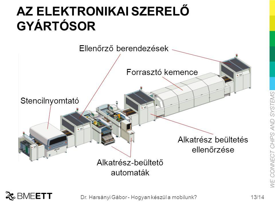 /14 AZ ELEKTRONIKAI SZERELŐ GYÁRTÓSOR 13 Dr. Harsányi Gábor - Hogyan készül a mobilunk.