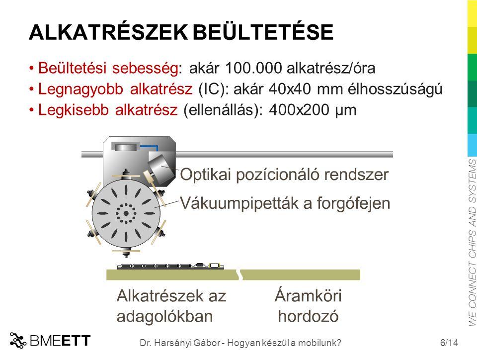 /14 7 Dr. Harsányi Gábor - Hogyan készül a mobilunk? ALKATRÉSZEK BEÜLTETÉSE