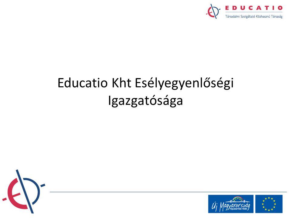 Educatio Kht Esélyegyenlőségi Igazgatósága