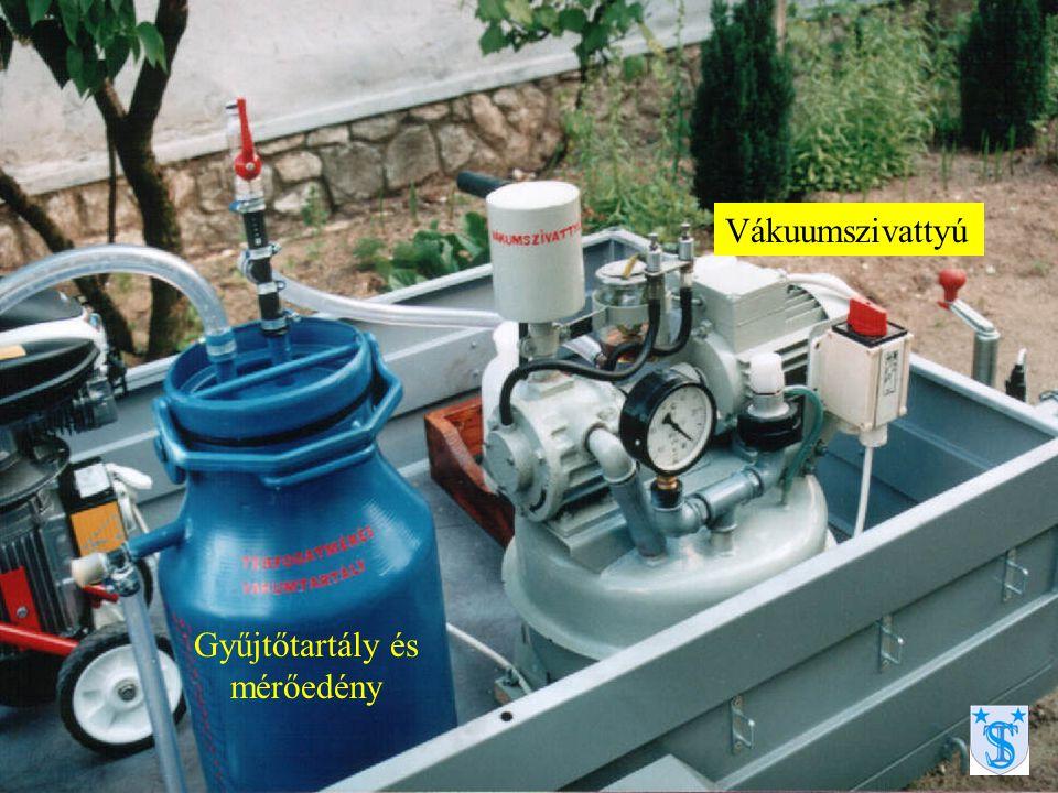 Víztartály és hidrofor berendezés a kavicságy regenerálásához, és átjárhatóság vizsgálathoz (vizes kontroll)